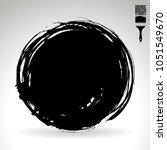 black brush stroke and texture. ... | Shutterstock .eps vector #1051549670