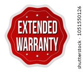 extended warranty label or... | Shutterstock .eps vector #1051550126
