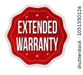 extended warranty label or... | Shutterstock .eps vector #1051550126