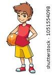 full length illustration of a... | Shutterstock .eps vector #1051554098