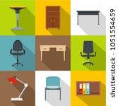 furniture icons set. flat set... | Shutterstock . vector #1051554659