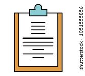 clipboard paper isolated icon | Shutterstock .eps vector #1051555856