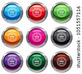sale sticker 50 percent off set ... | Shutterstock . vector #1051557116