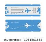flat design of airline travel... | Shutterstock .eps vector #1051561553