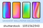 phone gradient wallpaper set.... | Shutterstock .eps vector #1051562543