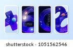 phone space wallpaper set.... | Shutterstock .eps vector #1051562546