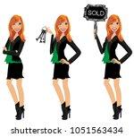 realtor avatar   clip art  ... | Shutterstock .eps vector #1051563434