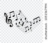 musical design element  music... | Shutterstock .eps vector #1051567994