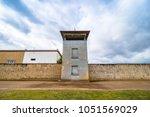 guard tower in gedenkst tte und ...   Shutterstock . vector #1051569029