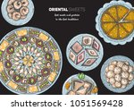 oriental sweets vector...   Shutterstock .eps vector #1051569428
