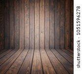 dark brown pine wooden empty... | Shutterstock . vector #1051596278