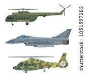 military transport vector... | Shutterstock .eps vector #1051597283