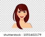 beautiful brunette girl with... | Shutterstock .eps vector #1051602179