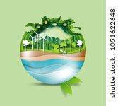 green earth of eco friendly... | Shutterstock .eps vector #1051622648