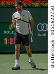 Small photo of INDIAN WELLS, CA - MAR 05-18: Roger Federer at the BNP PARIBAS OPEN Tennis Tournament in Indian Wells, CA on March 17, 2018