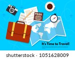 it s time to travel.trip to... | Shutterstock .eps vector #1051628009