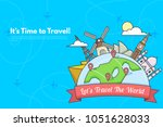 it s time to travel.trip to... | Shutterstock .eps vector #1051628033