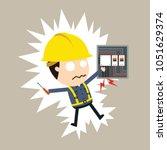 feel a shock  vector... | Shutterstock .eps vector #1051629374