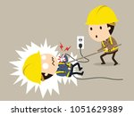 get shocked  vector... | Shutterstock .eps vector #1051629389