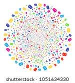 psychedelic baht explosion...   Shutterstock . vector #1051634330