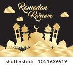 beautiful ramadan kareem... | Shutterstock .eps vector #1051639619