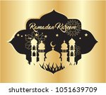 beautiful ramadan kareem... | Shutterstock .eps vector #1051639709