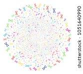 multicolored chromosome sparked ... | Shutterstock .eps vector #1051640990