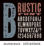 a rustic wood styled vector... | Shutterstock .eps vector #1051643636