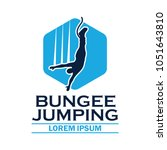 bungee jumping logo with text... | Shutterstock .eps vector #1051643810