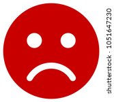 sad mood smiley raster... | Shutterstock . vector #1051647230
