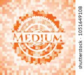 medium orange mosaic emblem... | Shutterstock .eps vector #1051649108