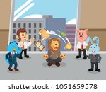 business animal see their... | Shutterstock .eps vector #1051659578