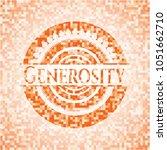 generosity orange mosaic emblem ... | Shutterstock .eps vector #1051662710