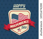 usa independence day card | Shutterstock .eps vector #1051674200