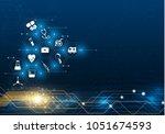 abstract bright glitter blue...   Shutterstock .eps vector #1051674593