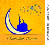 ramadan greetings in arabic... | Shutterstock .eps vector #105167540