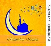 ramadan greetings in arabic... | Shutterstock .eps vector #105167540