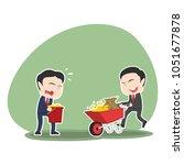 asian businessman pushing... | Shutterstock .eps vector #1051677878