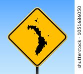 lord howe island map road sign. ... | Shutterstock .eps vector #1051686050