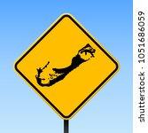 Bermuda Map Road Sign. Square...