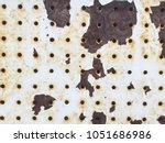 peeling paint rusting metal... | Shutterstock . vector #1051686986
