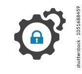 settings icon with padlock sign....   Shutterstock .eps vector #1051688459