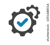 settings icon with check sign.... | Shutterstock .eps vector #1051688516