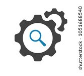 settings icon with research... | Shutterstock .eps vector #1051688540