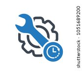 maintenance icon with clock... | Shutterstock .eps vector #1051689200