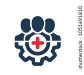 positive employee icon.... | Shutterstock .eps vector #1051691810