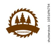 logo of woodwork company vector ...   Shutterstock .eps vector #1051696754
