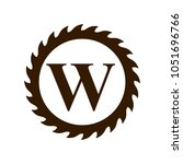 logo of woodwork company vector ... | Shutterstock .eps vector #1051696766