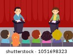 illustration of stickman kids... | Shutterstock .eps vector #1051698323