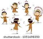 illustration of native american ...   Shutterstock .eps vector #1051698350